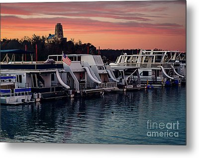 Lake Murray Sunrise At The Marina Metal Print by Tamyra Ayles