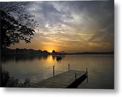 Sunrise At The Reservoir Metal Print