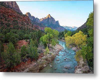 Sunrise At The Watchman - Zion National Park - Utah Metal Print by Brian Harig