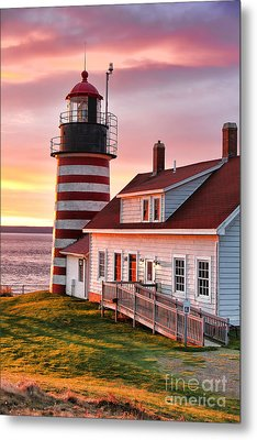 West Quoddy Head Lighthouse 3747 Metal Print