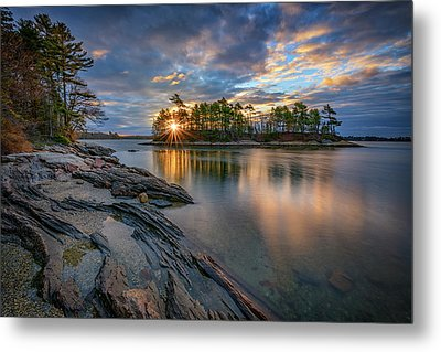 Metal Print featuring the photograph Sunrise At Wolfe's Neck Woods by Rick Berk