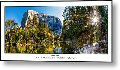 Sunrise At Yosemite Poster Print Metal Print by Az Jackson