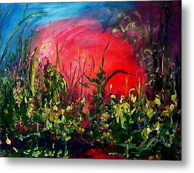 Sunrise Blooming Metal Print by Ellen Seymour