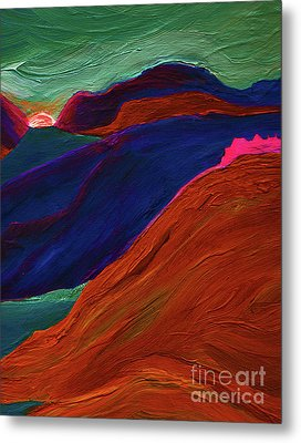 Metal Print featuring the painting Sunrise Castle 2  by First Star Art
