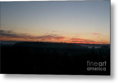 Metal Print featuring the photograph Sunrise From The Midnight Train To Moscow by Robert D McBain
