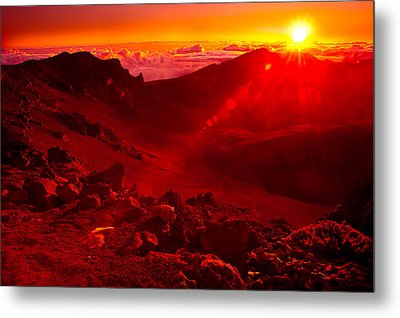 Sunrise Haleakala Metal Print by Harry Spitz