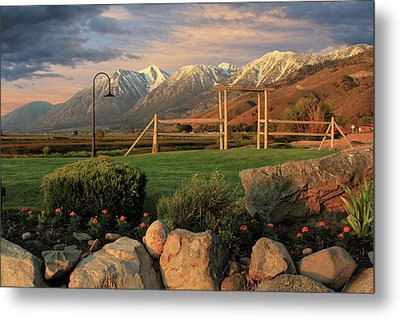 Sunrise In Carson Valley Metal Print by James Eddy