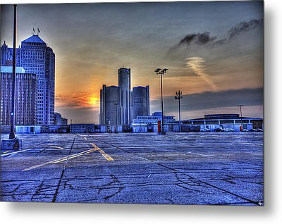 Sunrise In Detroit Mi Metal Print by Nicholas  Grunas
