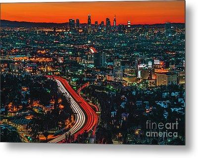 Sunrise In Hollywood Metal Print by Art K