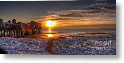 Sunrise In Maine Metal Print