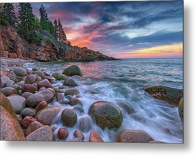 Sunrise In Monument Cove Metal Print by Rick Berk