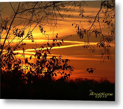 Metal Print featuring the photograph Sunrise In Tennessee by EricaMaxine  Price