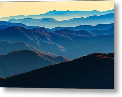 Sunrise In The Smokies Metal Print by Rick Berk