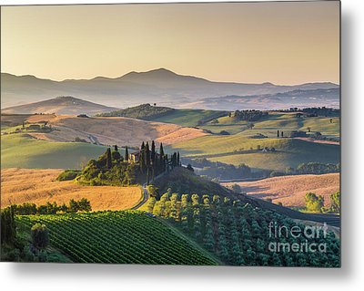 Sunrise In Tuscany Metal Print by JR Photography