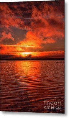 Sunrise Lake Metal Print