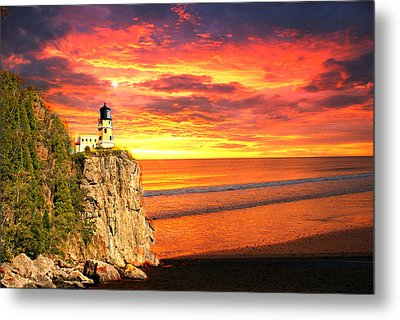Sunrise Lighthouse Metal Print by Marty Koch