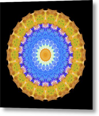 Sunrise Mandala Art - Sharon Cummings Metal Print by Sharon Cummings