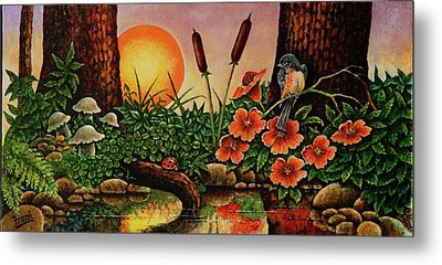 Metal Print featuring the painting Sunrise by Michael Frank