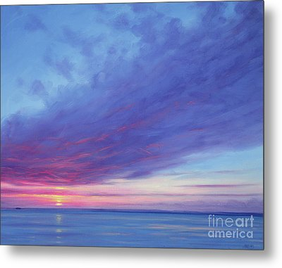 Sunrise Off Treasure Cay Metal Print by Derek Hare