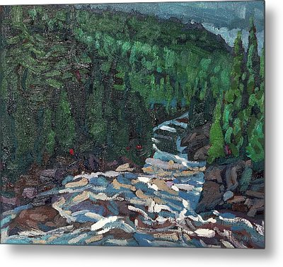 Sunrise On Grande Chute Dumoine Metal Print