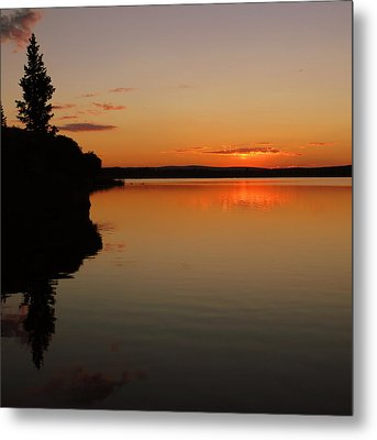 Sunrise On Heart Lake Metal Print