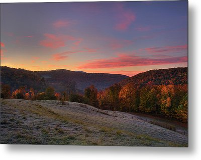 Metal Print featuring the photograph Sunrise On Jenne Farm - Vermont Autumn by Joann Vitali