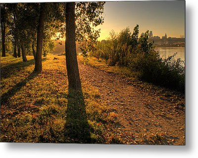 Sunrise On Kaw Point Metal Print by Don Wolf