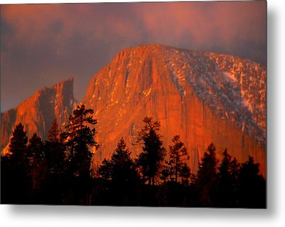 Sunrise On Long's Peak Metal Print by Perspective Imagery