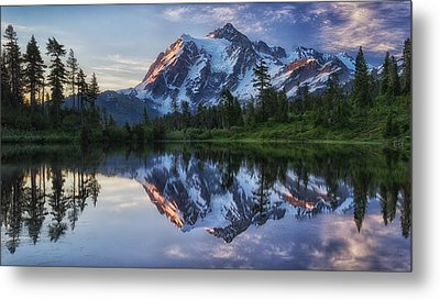 Sunrise On Mount Shuksan Metal Print by James K. Papp