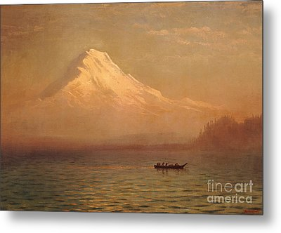 Sunrise On Mount Tacoma  Metal Print by Albert Bierstadt