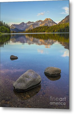 Metal Print featuring the photograph Sunrise On Mount Timpanogos by Spencer Baugh