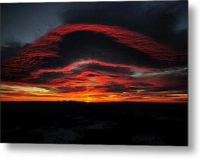 Sunrise On Rainier Metal Print