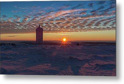 Sunrise On The Brocken, Harz Metal Print