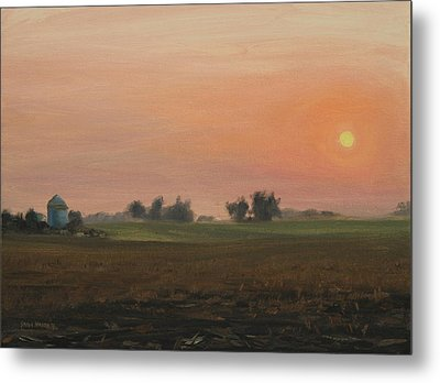 Sunrise On The Farm Metal Print by Steve Haigh