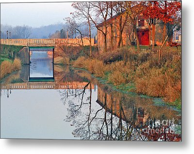 Sunrise On The I And  M Canal Metal Print