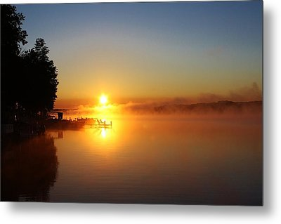 Sunrise On The Lake 2 Metal Print by Bruce Bley