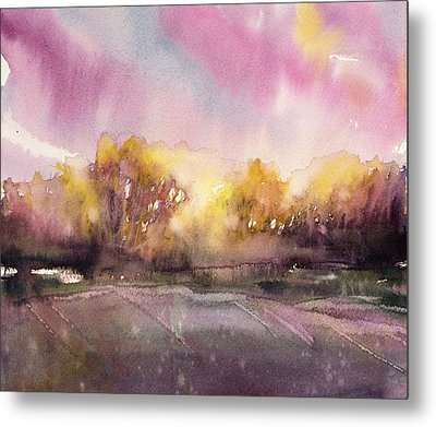 Sunrise On The Lane Metal Print by Judith Levins
