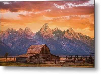 Metal Print featuring the photograph Sunrise On The Ranch by Darren White