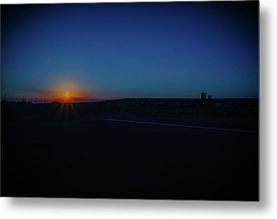 Sunrise On The Reservation Metal Print