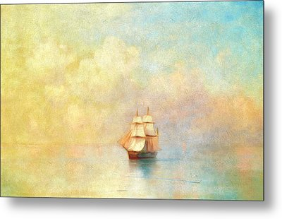 Sunrise On The Sea Metal Print by Georgiana Romanovna