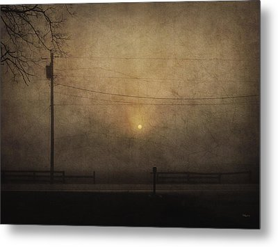 Sunrise On Wilmington Pike Metal Print by Cynthia Lassiter