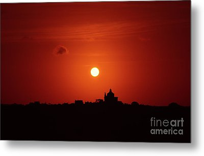 Sunrise Over A Small Town Metal Print by Stephan Grixti