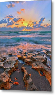 Sunrise Over Carlin Park In Jupiter Florida Metal Print