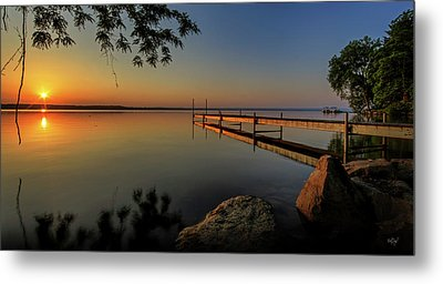 Sunrise Over Cayuga Lake Metal Print by Everet Regal