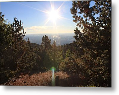 Metal Print featuring the photograph Sunrise Over Colorado Springs by Christin Brodie
