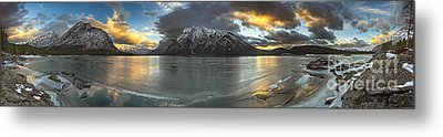 Sunrise Over Deep Emerald Ice Metal Print by Royce Howland