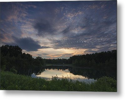 Sunrise Over Indigo Lake Metal Print