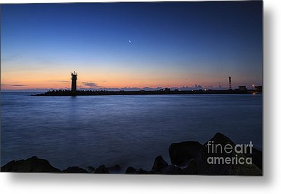 Sunrise Over Lighthouse - Beautiful Seascape Metal Print by Mohamed Elkhamisy