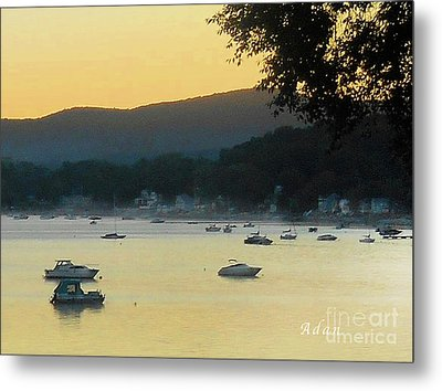 Sunrise Over Malletts Bay Panorama - Nine V2 Detail Metal Print