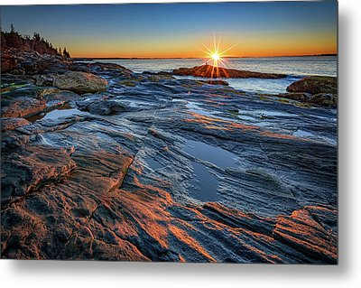 Sunrise Over Muscongus Bay Metal Print by Rick Berk
